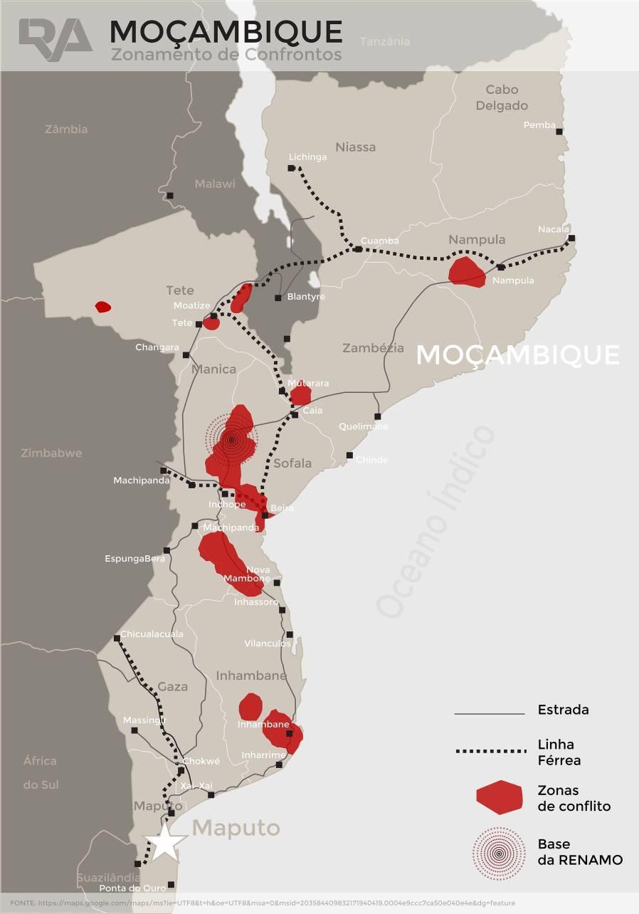 Resultado de imagem para moçambique conflito